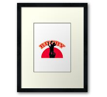 rugby player lineout ball Framed Print