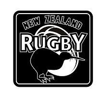 New Zealand rugby logo with kiwi by patrimonio