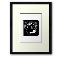 New Zealand rugby logo with kiwi Framed Print