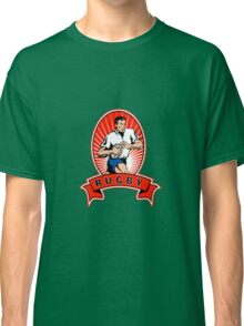 rugby player attacking ball Classic T-Shirt