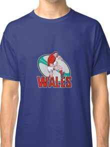 wales rugby player running ball Classic T-Shirt