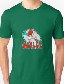 wales rugby player running ball Unisex T-Shirt
