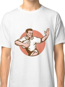 rugby player fending off Classic T-Shirt