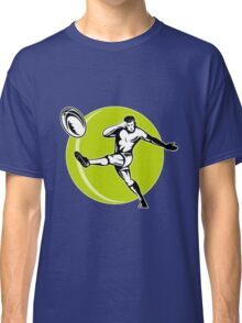 rugby player kicking ball Classic T-Shirt