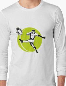 rugby player kicking ball Long Sleeve T-Shirt