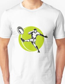 rugby player kicking ball Unisex T-Shirt