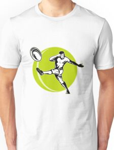 rugby player kicking ball Unisex T-Shirt