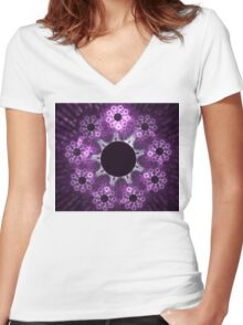 Amethyst Women's Fitted V-Neck T-Shirt