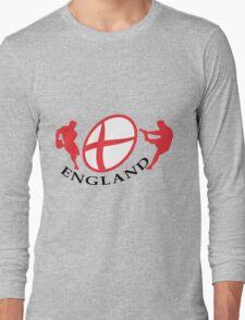 england rugby player kicking ball Long Sleeve T-Shirt