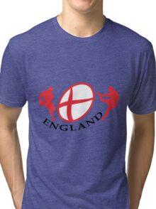 england rugby player kicking ball Tri-blend T-Shirt