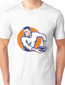 rugby player passing ball vintage Unisex T-Shirt