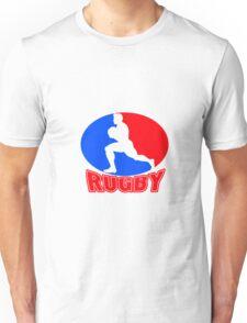 rugby player running ball Unisex T-Shirt