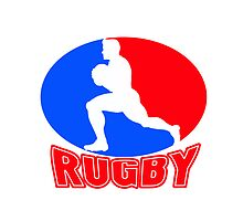 rugby player running ball by patrimonio