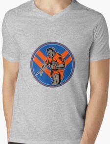 rugby player running ball Mens V-Neck T-Shirt