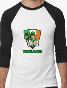 Irish leprechaun rugby player Men's Baseball ¾ T-Shirt