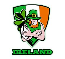 Irish leprechaun rugby player by patrimonio