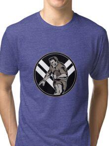 rugby player running ball Tri-blend T-Shirt