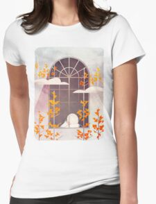 Outside The Window Womens Fitted T-Shirt
