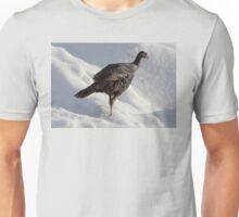 Wild Turkey in the Snow Unisex T-Shirt