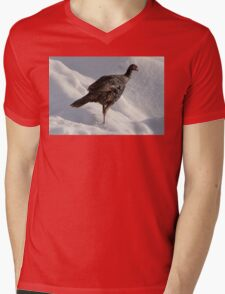 Wild Turkey in the Snow Mens V-Neck T-Shirt
