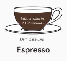 Coffee Addict, Espresso, no background One Piece - Short Sleeve