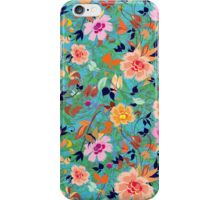 Colorful Abstract Retro Flowers Collage iPhone Case/Skin
