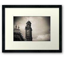 Launceston Town Clock Framed Print
