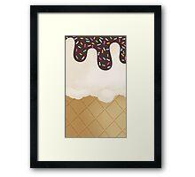 Ice Cream sprinkles Framed Print