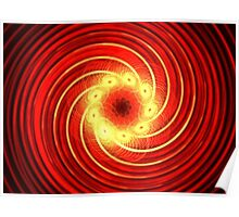 Candy Red Swirl Poster