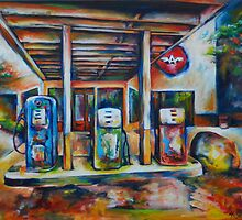 Gas Station by Heather Schuer