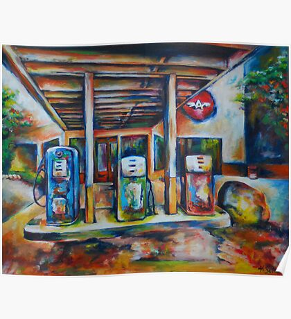 Gas Station Poster