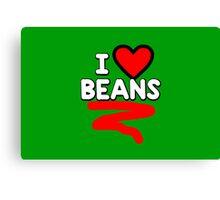I heart beans Canvas Print