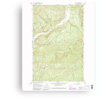 USGS Topo Map Washington State WA Aladdin 239773 1966 24000 Canvas Print