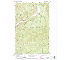 USGS Topo Map Washington State WA Aladdin 239773 1966 24000 Photographic Print