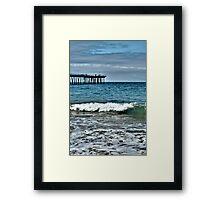 Hermosa Beach Surf Framed Print