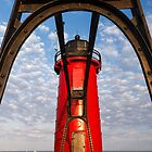 Michigan&#x27;s South Haven Light through Catwalk Approach by Kenneth Keifer