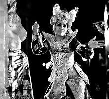 Balinese Kecak Dancer by Valerie Rosen
