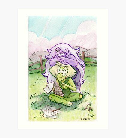 Steven Universe - Amethyst and Peridot Art Print