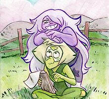Steven Universe - Amethyst and Peridot by livielightyear