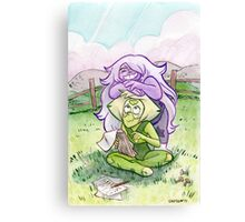 Steven Universe - Amethyst and Peridot Canvas Print