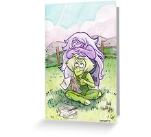 Steven Universe - Amethyst and Peridot Greeting Card