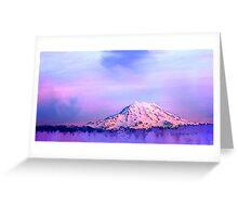 Vivid Mountain Sunset Greeting Card