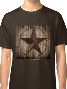 vintage western country barn wood grunge texas star  Classic T-Shirt