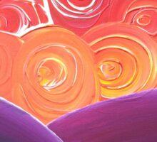 Fantasy Sunset - acrylic swirl Sticker