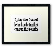 Cornet Framed Print
