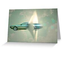 supersonic delorean Greeting Card