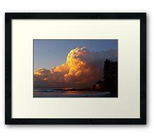flame clouds II Framed Print