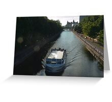 The Ottawa Canal in Summer Greeting Card