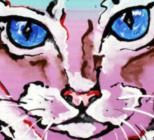 Colorful Cat - Animal Art by Valentina Miletic Sticker