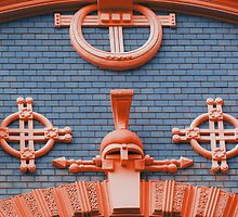 Art Nouveau In Orange & Blue by wiggyofipswich